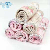 Wholesale Microfiber Printed Hand Towel Home Use Baby Towel 40*40cm Square Shape Pink Color from china suppliers