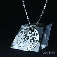 Wholesale Fashion High Quality Fashion Stainless Steel Round Shapped Necklace Pendant LPR06 from china suppliers