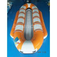 Wholesale Orange Color Inflatable Banana Boat , Towable Water Boat For Summer from china suppliers