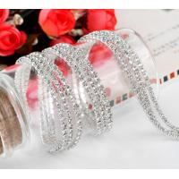 Wholesale clear rhinestone trims silver chain ss6/ss8/ss10/ss12 from china suppliers