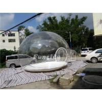 Wholesale 0.8 0.9mm PVC Tarpaulin Inflatable Bubble Tent With White Zipper Promotion Use from china suppliers