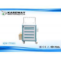 Wholesale Transfusion ABS Medical Trolley Cart Blue Colour With Resist Corrosion , Long Lifespan from china suppliers