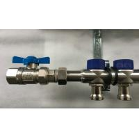 Wholesale Short Flowmeter S S 304 9 zones House Water Manifold for Floor Heating Systems from china suppliers