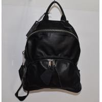 Wholesale Cowhide Leather Black Fashionable Backpacks Packsack Nakspack for Woman from china suppliers