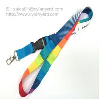 Quality Custom sublimated full color neck lanyards wholesale cheap pricing for sale