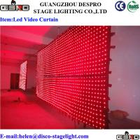 Wholesale LED Vision Curtain Fireproof Velvet Cloth LED Stage Backdrop Voice Control from china suppliers