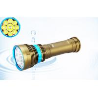 Wholesale Brightest 6500k Cree Xml2 Led Dive Torch With 6*18650 Rechargeable Battery from china suppliers