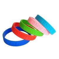 Wholesale Debossed Logo Silicone Bracelet from china suppliers