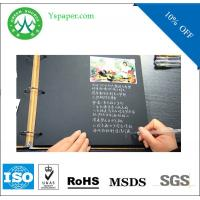 Wholesale 230g smooth paper black dongguan two sides black color paper from china suppliers