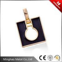 Wholesale D shape handbag buckle,light gold adjustable strap metal buckle from china suppliers