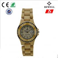 Wholesale Bewell Natural Bamboo Wrist Watch Custom With Quartz Movement from china suppliers