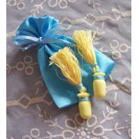 Wholesale Blue Satin Drawstring Bag Custom Eco Friendly Simple for Earrings from china suppliers