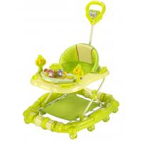 Wholesale Green 6 Wheel Adjustable Baby Walker for Girls , Portable Baby Walker from china suppliers
