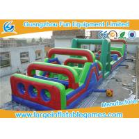 Wholesale Commercial Separating Extreme Running Obstacle Course Inflatable With Giant Rush For Park from china suppliers
