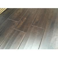 Buy cheap Distressed Floating Laminate Floor with EIR Surface V Groove , Dark Walnut Wood Flooring from wholesalers