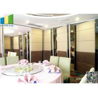 Quality Meeting Room MDF Folding Partiion Walls , Hotel Operable Partition Walls for sale
