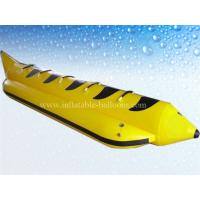 Wholesale 0.9mm PVC Tarpaulin Inflatable Water Toys , 4m Inflatable Banana Boat from china suppliers