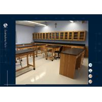 Wholesale Wooden Laboratory Wall Bench For College / Physics Laboratory Furniture from china suppliers