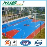Wholesale 4mm Silicon PU Sports Flooring / Green Badminton Court Flooring Durable Seamless from china suppliers