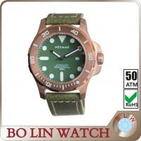 Wholesale 44mm Fashion Womens Bronze Watch , Sapphire Glass Retro Mens Day Date Watches from china suppliers