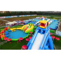 Wholesale Super Large Inflatable Water Park With Long Ramp / Outside Inflatable Water Slide from china suppliers