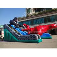 Quality 15mL Giant Dinosaur Inflatable Slide , King Kong Water Slide Park For Adults for sale