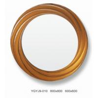 Wholesale Unique Round Decorative Framed Mirror With Golden Frame , Lamination Glass from china suppliers