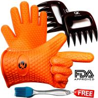 Wholesale Orange Outdoor Silicone Kitchen Utensil Set Heat Resistant Silcone Gloves Set from china suppliers