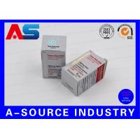 Quality Metallic Silver Foil 325g Paper 10ml Vial Box For Anabolic Steroids / Stimulants for sale