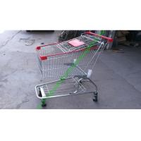 Wholesale Iron Wire Shopping Cart , Powder Coated Grocery Shopping Trolley With Elevator Wheels from china suppliers