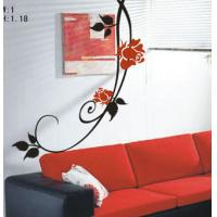 Wholesale Classic PVC Decoration Long Branch Wall Flower Stickers F027 from china suppliers