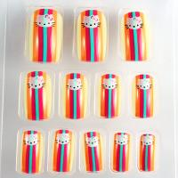 Wholesale Japanese short Fingers Fake Nails french manicure with ABS material from china suppliers