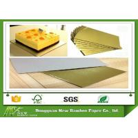 Quality Metalized Shiny Gold Foil Cardboard Laminated Grey Board Gold Paper Cake Boards for sale