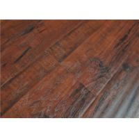 Buy cheap Click Lock Cherry Wood Distressed Laminate Flooring Handscraped High Density AY001 from wholesalers