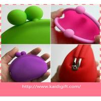 Wholesale Colorful Fashion Silicone Coin Purse , rubber squeeze coin purse from china suppliers