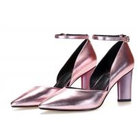 Wholesale Pointed Toe Metallic Leather Pumps , Ankle Strap D Orsay Pump Rubber Outsole from china suppliers