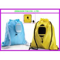 Wholesale Ball shape Drawstring backpack,  Rugby shape drawstring bag, Rugby shopping bag from china suppliers