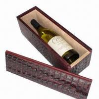 Wholesale Wine Box, Comes in Various Sizes, Logos, Designs and Die-cut from china suppliers