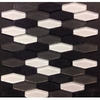Wholesale Carbon Blend Hexagon Glass Mosaic Tile White Grey Black Mosaics Bush Hammered from china suppliers