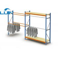 Wholesale Powder Coated Light Duty Metal Clothes Rack, Steel Commercial Clothing Racks from china suppliers