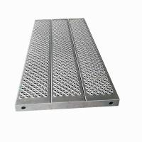 Wholesale 1308*595*55mm 9.5kg  Aluminum scaffold baord plank for Haki scaffold from china suppliers