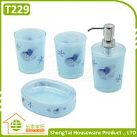 Buy cheap Bright Color Starfish Bathroom Accessories Set Trumpet Shell Plastic Bathroom Sets from wholesalers