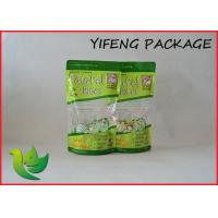 Wholesale Colors Printed Clear Plastic Stand Up Pouches Dry Food Packaging Zip Top from china suppliers