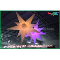 Quality Nylon Advertising LED Star Balloon Outdoor Inflatable Decorations WIth CE / UL Blower for sale
