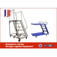 Wholesale Steel 3 Meter Truck Step Ladder Customized Movable With 4 Wheels from china suppliers