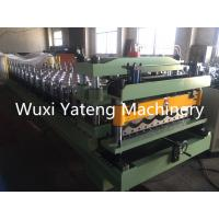 Wholesale 45# Steel Material Glazed Tile Roll Forming Machine With Mirror Polishing 0.4 - 0.8mm Thickness from china suppliers