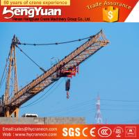 Wholesale QTZ series tower crane for sale in dubai,luffing jib dubai tower crane from china suppliers