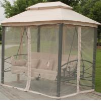 Quality Luxury Two Function Three Seat Outdoor Gazebo Swing Chair Bed outdoor furniture for sale