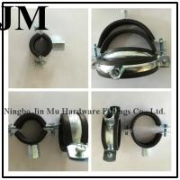 Wholesale Industry Heavy Duty Rubber Pipe Clamp 2 - 1 / 2 Inch with M8 / M10 Nut Quick Installation from china suppliers