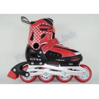 Wholesale Breathable Liner Boys Roller Inline Skates , CE Approved Red Skate Shoes with Wheels from china suppliers